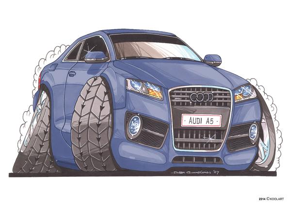 Audi A5 Bleue