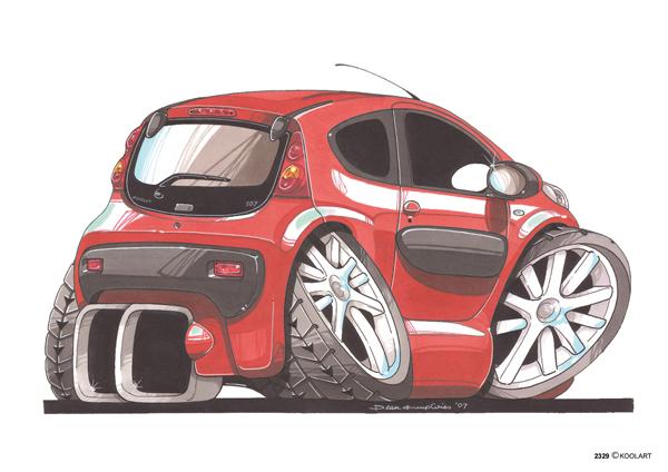 Peugeot 107 Arriere Rouge
