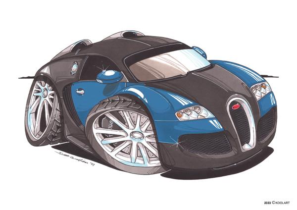 Bugatti Veyron Noire & Bleue