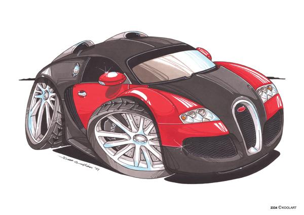 Bugatti Veyron Noire & Rouge