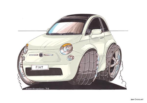 Fiat 500 Blanche