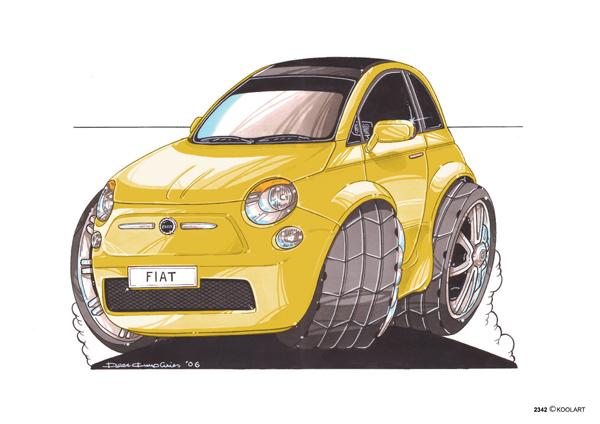 Fiat 500 Jaune
