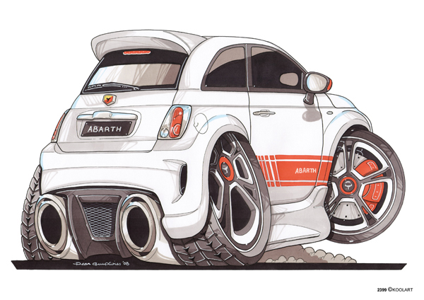 Fiat 500 Abarth Arriere