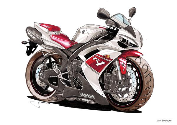 Yamaha R1 Blanche