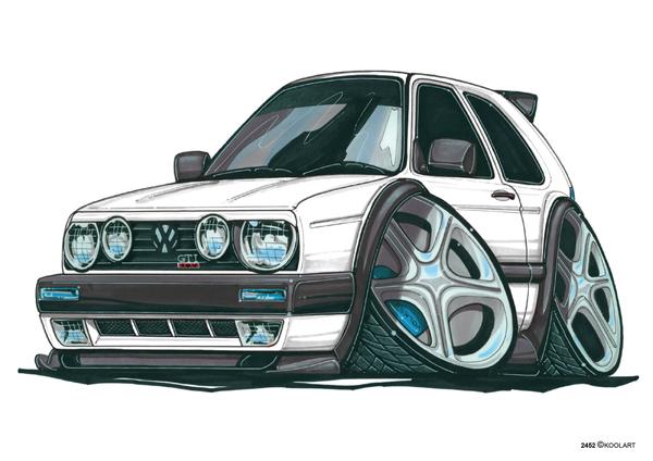 Volkswagen Golf GTI Blanche