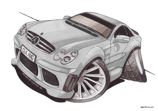 Mercedes CLK AMG Grise