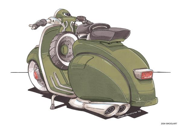 Scooter Vespa 150 VBA Vert