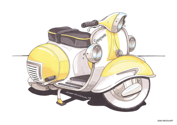 Scooter Vespa GS Jaune