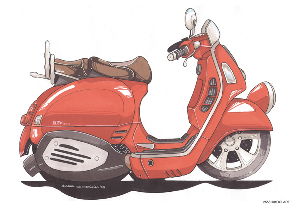 Scooter Vespa GTV Orange