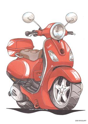 Scooter Vespa LX 50 Orange
