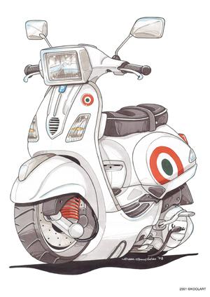Scooter Vespa S Blanc