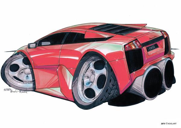 Lamborghini Murcielago Rouge