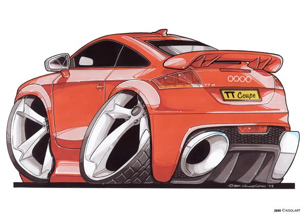 Audi TT Arriere Orange