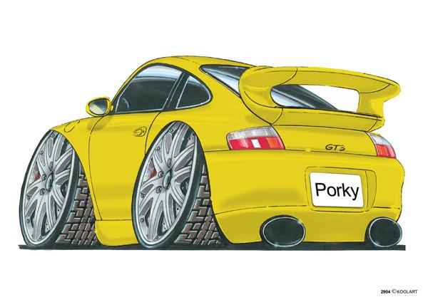 Porsche 911 GT3 Jaune