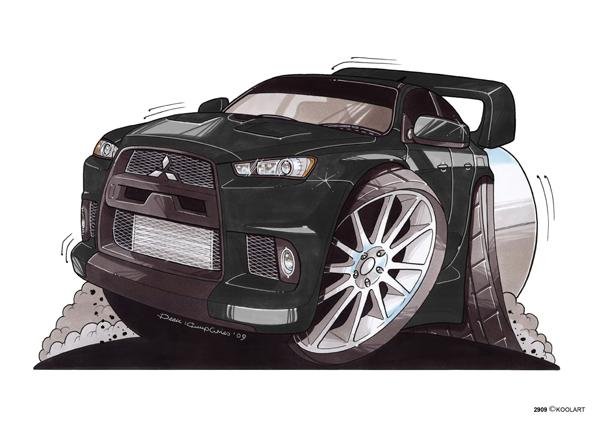 Mitsubishi Lancer Evo Noire