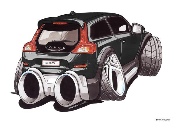 Volvo C30 Noire