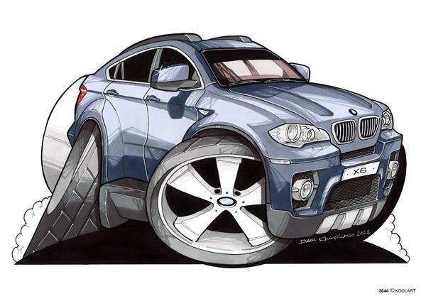BMW 4X4 X6 Bleu Metal