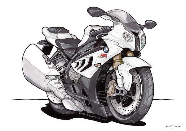 BMW S 1000 RR Blanche