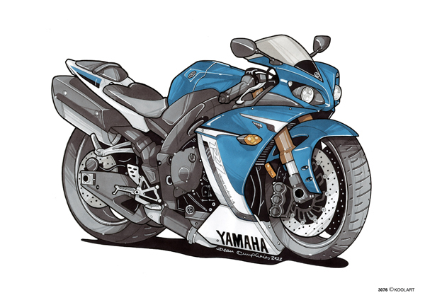 Yamaha R1 Bleue