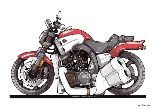 Yamaha V MAX Rouge