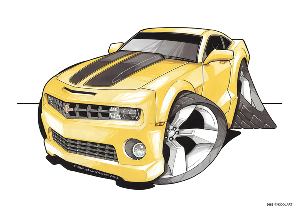 Camaro Jaune Transformers