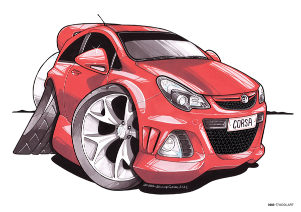 Opel Corsa Vauxhall Rouge