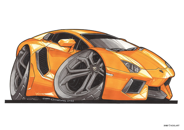 Lamborghini Aventador Orange