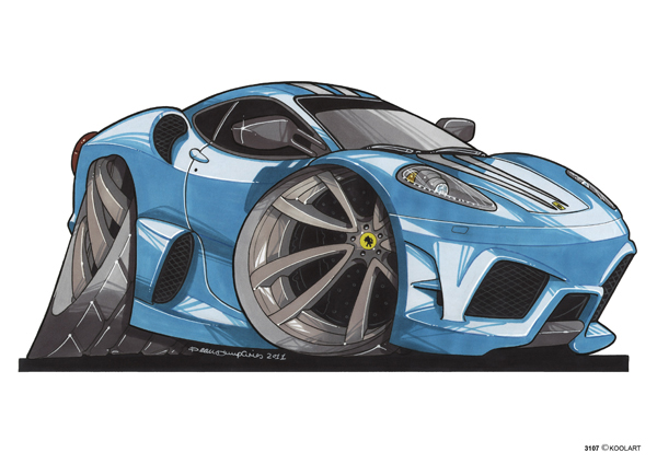 Ferrari F430 Bleue