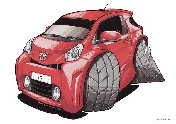 Toyota iQ Rouge