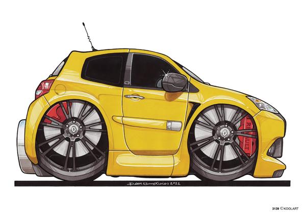 Renault Clio RS Jaune