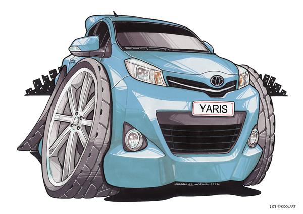 Toyota Yaris Bleue