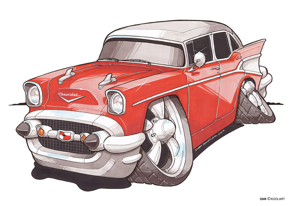 Chevrolet Bel Air Rouge