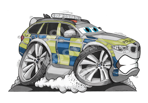 BMW X5 Cartoon Cars Grise