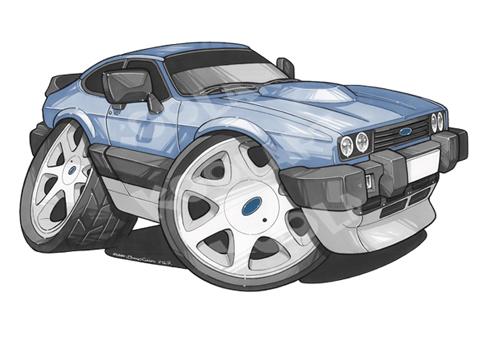 Ford Capri Bleue