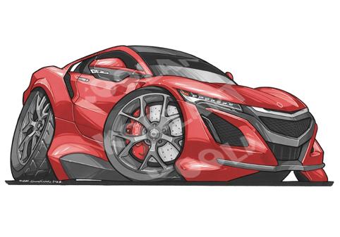 Honda NSX Sport Rouge