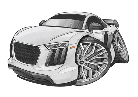 Audi R8 Face Blanche