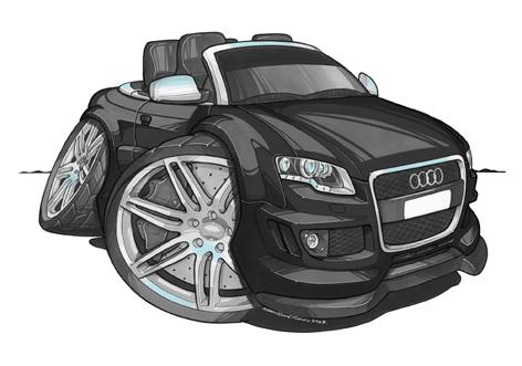 Audi RS4 Cabriolet Noire