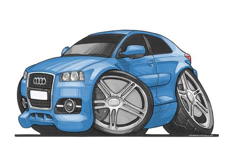 Audi A3 Bleue