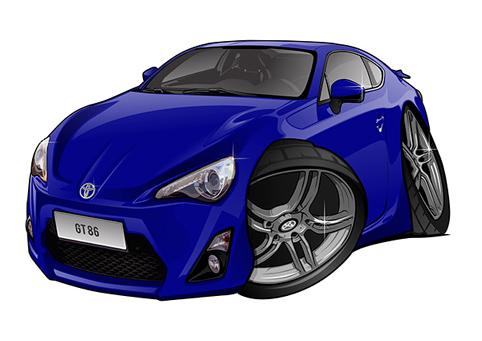 Toyota GT86 Bleue