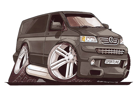 VW Transporter T5 Gris