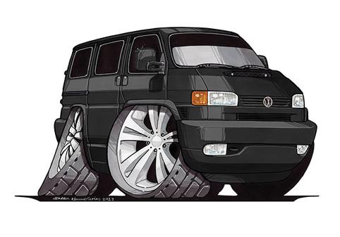 VW Transporter T4 Noir