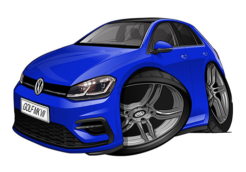 Volkswagen Golf 7 Bleue