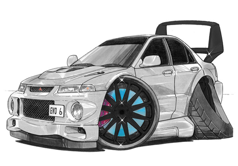 Mitsubishi Evolution 6 Grise